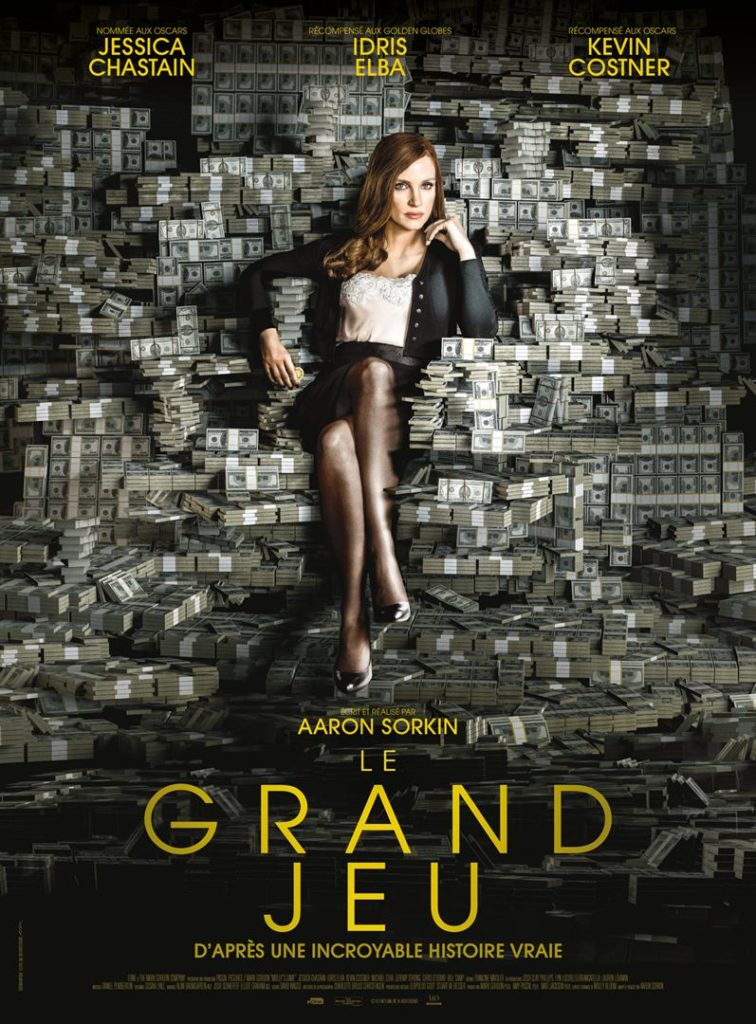 "Affiche du film ""le Grand Jeu"", en Anglais Molly's Game"